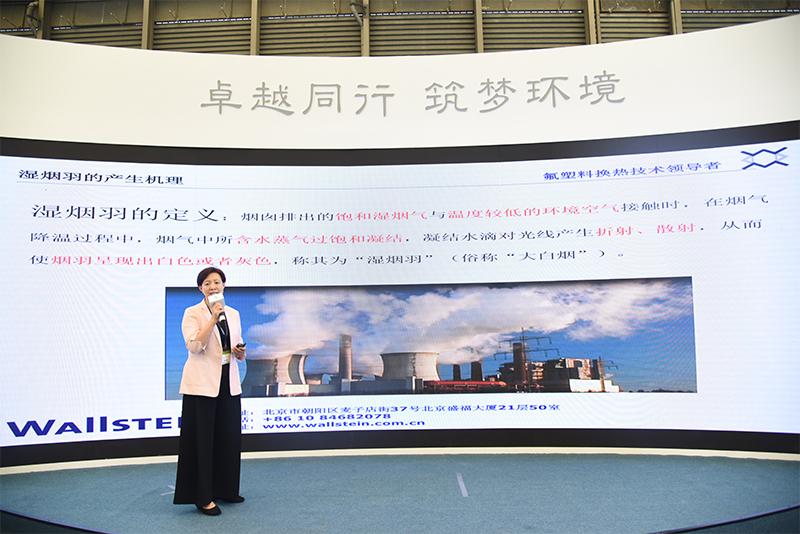 沃斯坦热力技术(北京)有限公司副总经理刘晓梅分享《沃斯坦氟塑料在烟气脱白领域的应用》。