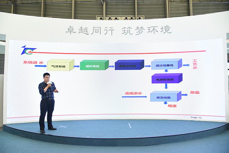 江苏久吾高科技股份有限公司市场总监张荟钦博士分享《工业废水深度处理及资源化利用》。