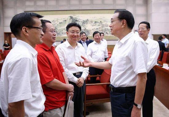 2015年7月10日,李克强总理主持召开座谈会