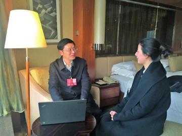 全国人大代表、四川省环保厅副厅长钟勤建接受记者专访