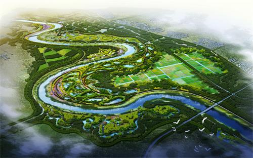 通州·北京城市副中心水环境治理——于永片区鸟瞰效果图