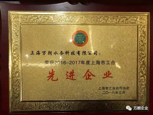 万朗获市先进企业、樊雪莲获优秀企业家称号